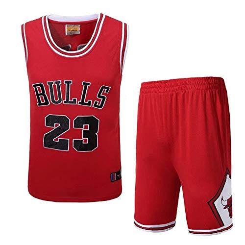 Traje De Baloncesto De La NBA para Hombre - Uniforme De Baloncesto De Verano NBA Michael Jordan # 23 Jerseys De Los Chicago Bulls Top Sin Mangas Y Pantalones Cortos con Bordado Clásico
