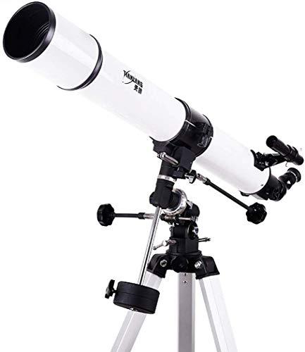 Praktisches Refraktor-Teleskop-Teleskop mit Stativsuchfernrohr, Tragbares Praktisches Teleskop-Teleskop für Kinder-Astronomie-Anfänger, bis zu 500-Fach, Brennweite 1000 Mm Praktisches Teleskop, TSJ