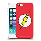 Head Case Designs Officiel The Flash DC Comics Plein Logo Coque en Gel Doux Compatible avec iPhone 5 iPhone 5s iPhone Se
