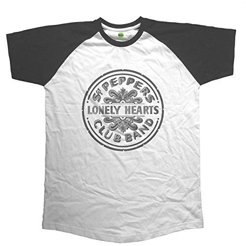 Rockoff The Beatles Sgt Pepper T-Shirt, Bianco (Bianco Bianco), XL Uomo