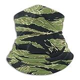 Animal Tiger Stripes Versatile Multifunction Headwear Neck Gaiter Balaclava Helmet Liner Riding Face Cover for Kids Women Men Outdoors UV Protection
