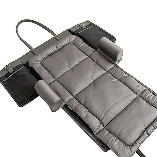 JSIHENA Sac de Maman Bandoulière Pliant Portable Lit bébé de pour bébé Concept bionique à Haute mémoire Bionic Cotton Momie Sac Grande capacité,Black