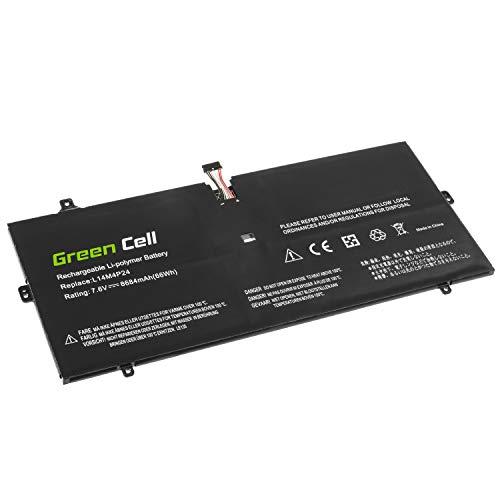 Green Cell 5B10H43261 5B10H55224 L14L4P24 L14M4P24 Akku für Lenovo Laptop (8700mAh 7.5V Schwarz)
