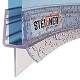 steigner guarnizione doccia, 70cm, per spessore vetro 6/7/ 8 mm, guarnizione semicircolare in pvc, uk03
