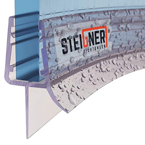 STEIGNER Duschdichtung, 90cm, Glasstärke 6/7/ 8 mm, Vorgebogene PVC Ersatzdichtung für Runddusche, UK03