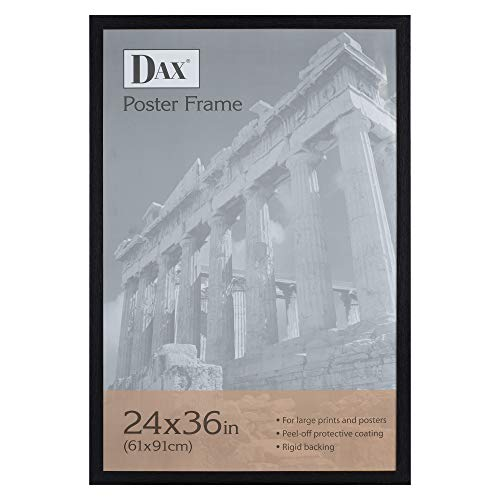 Dax 24x36 Narrow Black Environmentally Friendly Wood Composite Wall Display Poster Frame