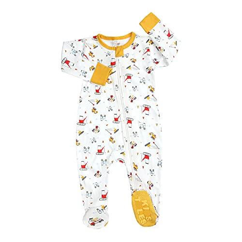 Mono de bebé de manga larga para niños y niñas, de una sola pieza, de epoxi, para bebé, para recién nacido, pijama para gatear, ropa de dormir con cremallera (0 a 18 meses)