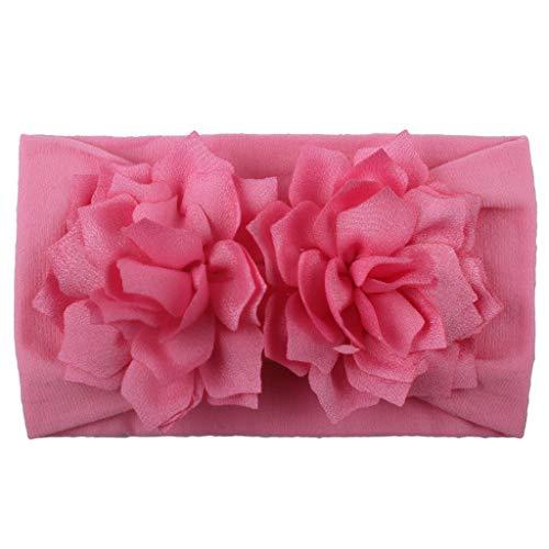 Huhu833 Baby Stirnbänder, Cute Baby Kleinkind Infant Circle Stirnband Blumen Haarband Zubehör Headwear (Rosa)