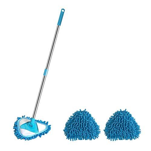 Ausziehbarer Dreieck Mopp - 180 ° drehbarer Dreieck-Staubwischer, Lazy Triangle Retractable Cleaning Mop, Multifunktionsböden Wandboden Wandreinigungs-Mopp Staubwischer Home Cleaning Tool