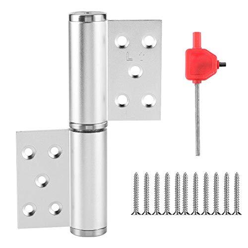 Fdit Bisagra de Puerta Oculta de Aluminio Duradero Eje hidráulico en Negrita Cierre automático Amortiguación Cierrapuertas Bisagra silenciosa Accesorios prácticos para Puertas domésticas