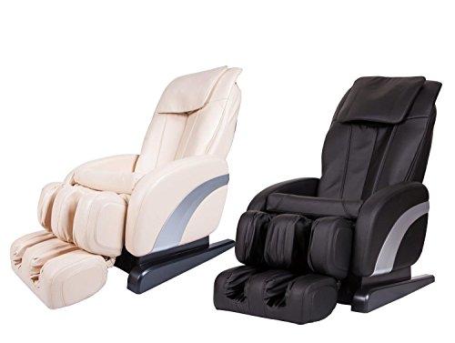 Preisvergleich Produktbild Comfort Professionelle Massage-Sessel mit Shiatsu- Klopfen Knetmassage Infrarot-Erwärmung,  (Schwarz und Beige)