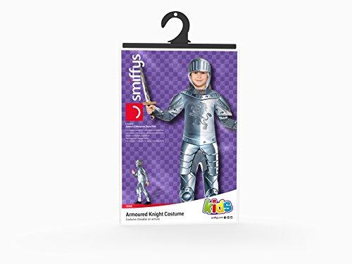 Smiffys Kinder Deluxe Ritter Kostüm, Jumpsuit und Kapuze, Größe: M, 43168 - 6