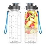 BOTTLED JOY 32oz Water Bottle, BPA Free Water Bottle with Motivational Time Marker Reminder Leak-Proof 1L Drinking Bottle Tritan Sports Bottle for Camping Workouts Gym and Outdoor Activity