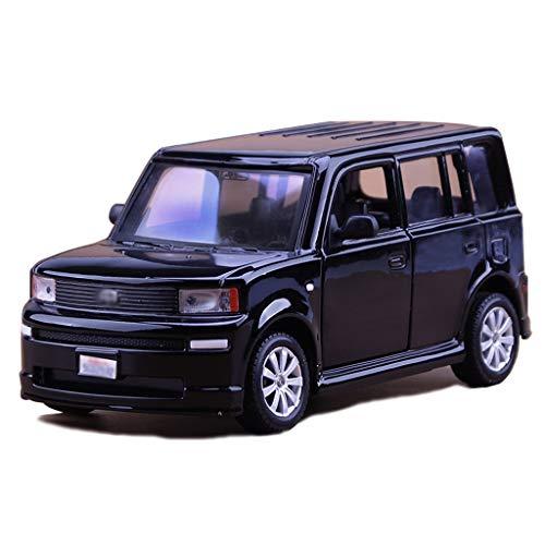 Scale 1:24 Die-cast Car Model/Compatible with Toyota Scion XB/Static Car Model SUV Off-Road Car Model Simulation Alloy Car Model (Color : Black)