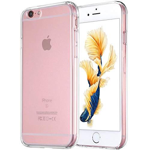 DOSMUNG Hülle Kompatibel mit iPhone 6/iPhone 6S, iPhone 6/6S Schutzhülle [Stoßfest] [Kratzfeste] Flexible TPU Silikonhülle Dünn Handyhülle für iPhone 6/6S - (4.7 Zoll)