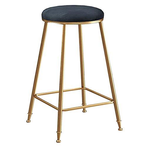 DALL Eetkrukken Ronde Gestoffeerde Stapelbare Tafel Kruk Goud Metalen Benen Zithoogte 65 Cm Keuken Ontbijt Counter Cafe