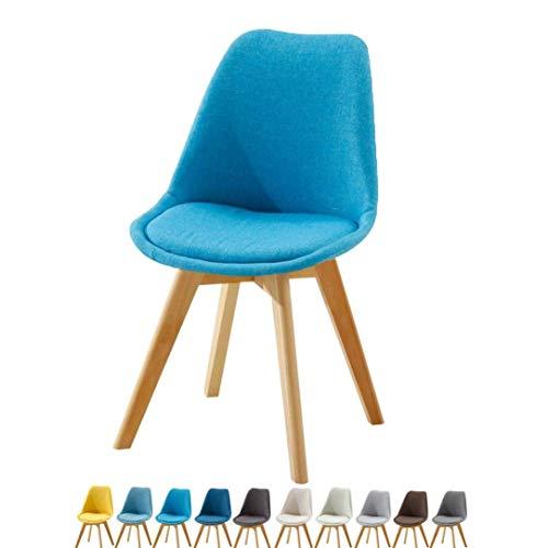 Esszimmerstühle Stoffsitz mit Holzbeinen Retro Design Restaurant Büro Lounge Esszimmer Küche Make-up Robuster Stuhl für Erwachsene Hocker (Farbe: H)