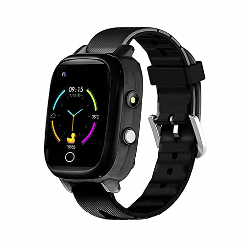 SeTracker 4G GPS Smart Watch For Kids   Two Way Video Calling   Wifi, Touch Screen   Parental App Compatible with iOS and Android -Black