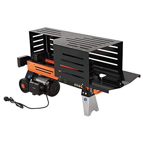 FUXTEC Holzspalter 6,5 t FX-HS6500 liegend mit 230V Hydraulikspalter Langholzspalter Brennholzspalter 6,5 tonnen