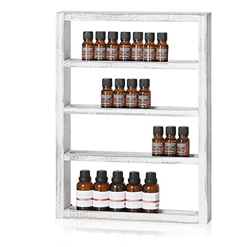 LIANTRAL Essential Oil Storage, Wall Mounted Wooden Display...