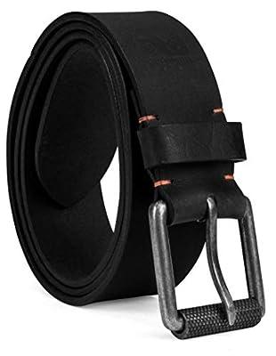 Timberland PRO Men's 40mm Workwear Leather Belt, Black/Roller Buckley, 38