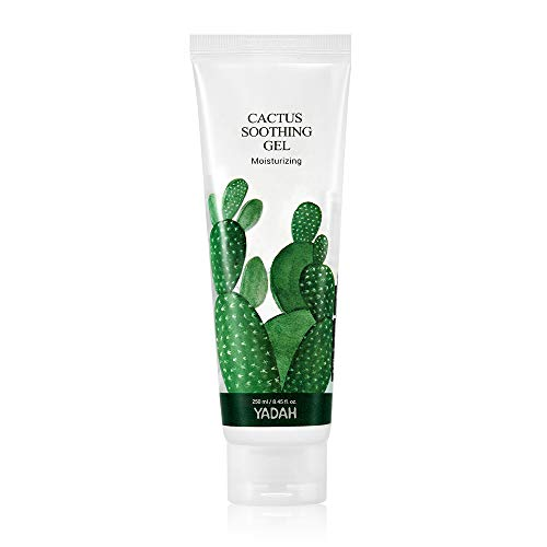 Yadah Cactus Soothing Gel 8.45fl.oz, Vegan Soothing Cooling Moisturizing Skin Care, 95 Percent of Cactus Extract