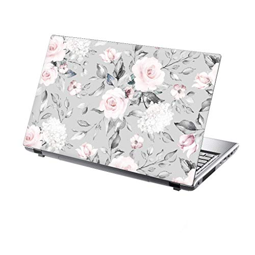 TaylorHe 15.6 inch 15 inch Laptop Skin Vinyl Decal with Colorful Patterns and Leather Effect Laminate MADE IN BRITAIN Vintage Floral Pattern