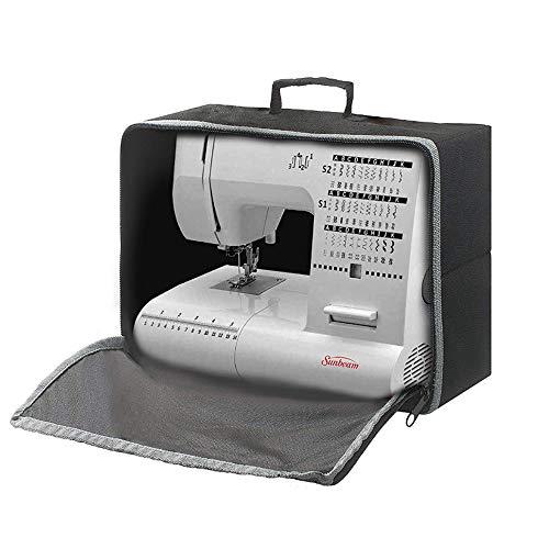 Housse de machine à coudre pliable anti-poussière pour machine à coudre et accessoires supplémentaires Sac de rangement universel pour machine à coudre