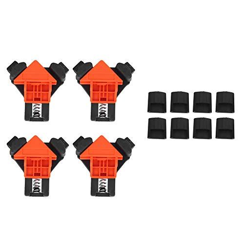 Rechteckklemme, 4PCs 90 ° Winkelklemme Holzbearbeitungsclip Hardware Zubehör Handwerkzeug für Einhandbedienung