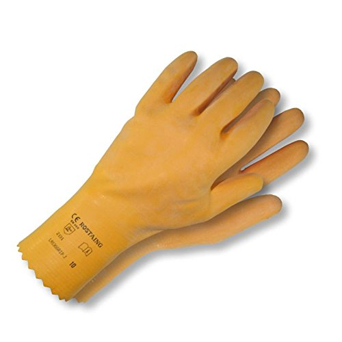 Rouille aing Gants de jardinage gants de ménage en latex LAS 30 Grip Taille 8