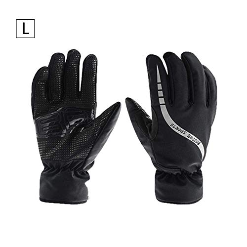 H ONG Motorcycle Riding Gloves Full Finger Motorbike Gloves Windproof Waterproof Bike Gloves Winter Warm Ski Gloves for Men Cycling Hunting Hiking