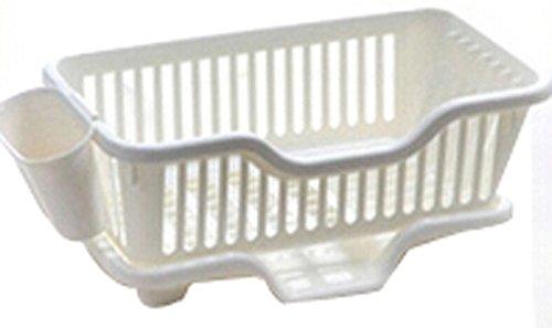 Cuisine Rack égouttoir à vaisselle Grille support de rangement grille d'évier/Avant Blanc