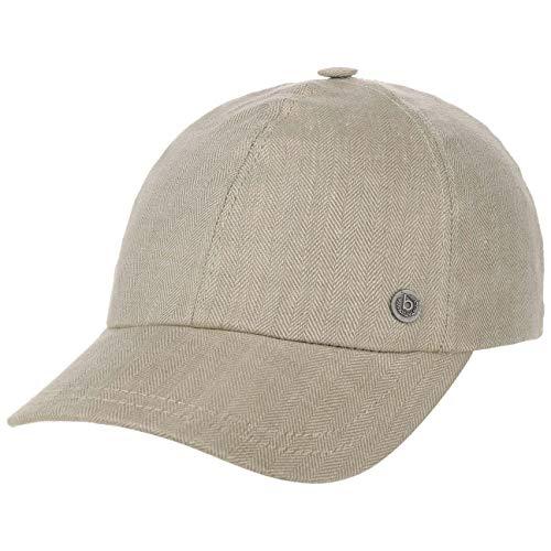 Bugatti Herri Leinen Baseballcap Cap Basecap Sommercap Leinencap Stoffcap (57 cm - beige)