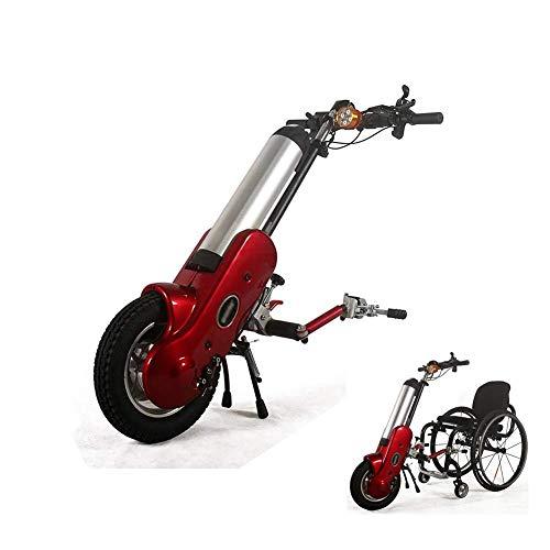 SLRMKK Tragbarer Klapprollstuhl, 36V 400W Anbaugeräte Rollstuhl Elektrisches Handrad Anbaugerät für Behinderte mit 15AH Li-Ionen-Batterie, 锛 孍 elektrischer Fahrzeugrollstuhlrahmen Frontantriebsha