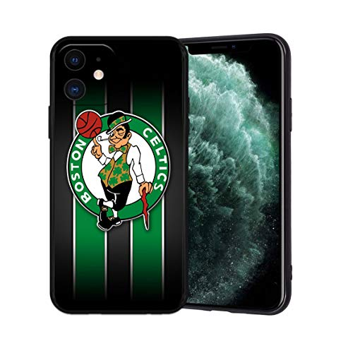 Phone Case for iPhone 11, Ultra-Thin Printed Acrylic Rear Panel Shockproof, with Soft TPU Bumper Military Cover for iPhone 11 Only 6.1 inches (Celtics-Black)