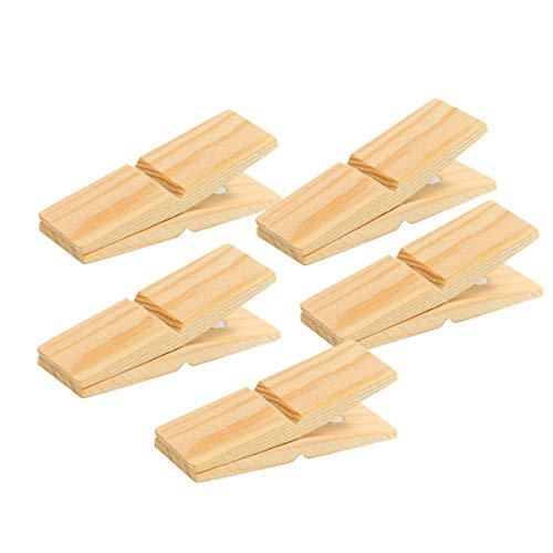 CLIP CLAP (クリップ クラップ) 木製 ウッドクリップ マグネット カードスタンド メモクリップ スタンド ピンチ PINCH 壁掛け 写真 (Pine wood(パイン), 5P)