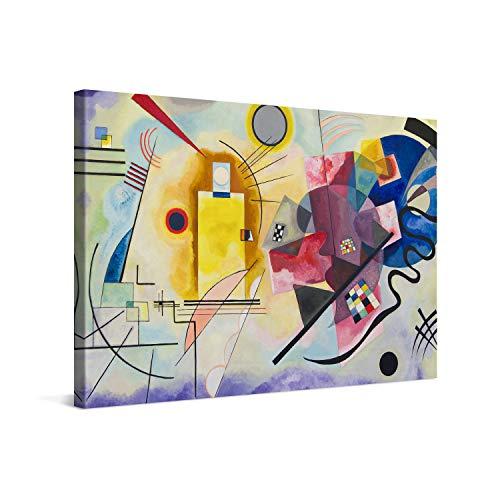 PICANOVA – Wassily Kandinsky – Yellow Red Blue 120x80cm – Quadro su Tela – Stampa Incorniciata con Spessore di 2cm Altre Dimensioni Disponibili Decorazione Moderna – Arte Classica