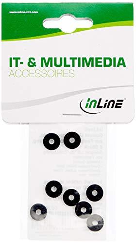 InLine 002448er Pack Gummi Unterlegscheiben, zur Festplatten-Entkopplung