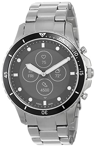 Fossil Men's FB-01 Dive-Inspired Hybrid Smartwatch HR with Always-On Readout Display, Heart...