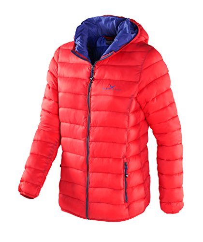 Black Crevice Damen Isolationsjacke in Daunenoptik, Rot (Red), 36
