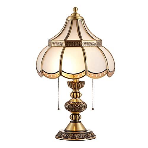 DO-MF Lámpara de Mesa Retro, lámparas de Noche de Cama de Cobre Puro, Luces de Escritorio de Arte Moderno para Sala de Estar salón Comedor Sala de Estudio Hall de Entrada Hotel