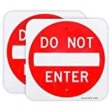 2 Pack Do Not Enter Sign 12'x 12' .04' Aluminum Sign Rust Free Aluminum-UV Protected and Weatherproof