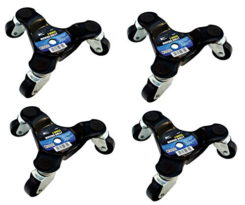 Set of 4 x 3 Wheel Moving Dolly Heavy Appliance Furniture Movers Castors