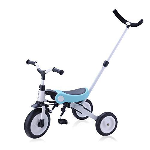 Rolling King 3-in-1 Tricycle for Kids from 2 Years to 5 Years Old (Blue)