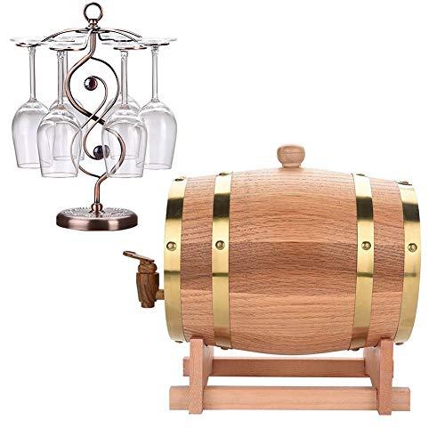 YANGUANG Barril de Vino La Madera de Roble del Barril de Vino Decanter, Whisky Barril dispensador for Servir Tabla Inicio Accent almacenaje de la exhibición de los espíritus, licores, Whisky Retro