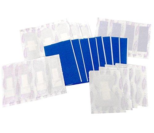 Lemming Kombi-Pflasterset DETECT für DIN 13157 und 13169 - detektierbare blaue Pflaster für Lebensmittelbetriebe geeignet - Fingerfplaster Fingerverband Wundverband detectable
