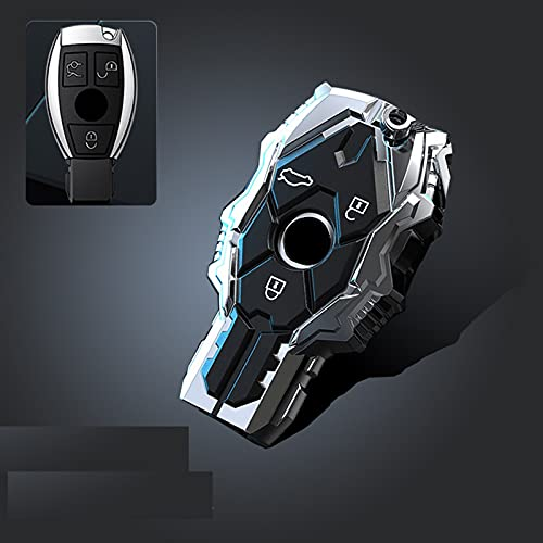 LYAKK Copri chiave in gel di silice in lega di zinco, per Mercedes Benz AMG ACES Classe GLC W203 W210 W176 E43 W213 E300 E400 Copri chiave per protezione