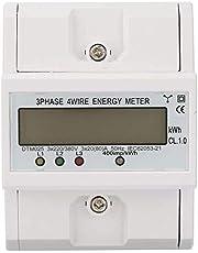 Elmätare, 3-fas 4P KWh-mätare 220 / 380V 20-80A Energiförbrukning Digital elmätare med LCD