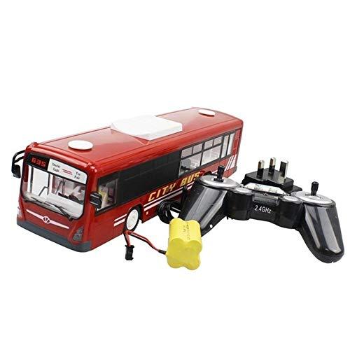 RRUUGK El Coche de RC 6 Canales 2.4G del Bus de Control Remoto City Express de Alta Velocidad un Comienzo dominante Función autobús con un Sonido Realista y Luz (Color : Red, Size : 1)
