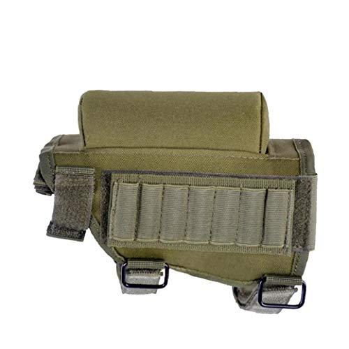 Hiinice Munición Culata Titular Estratégica De La Mejilla del Rifle del Cojín Multifuncional Cartuchos Titular De Utilidad Ejército Bolsa Verdes Herramientas Convenientes